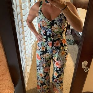Animal print and flowers Jumpsuit